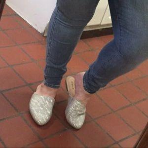 Torrid Rhinestone Slip On Shoes